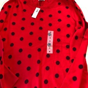 NWT Old Navy polka dot sweater